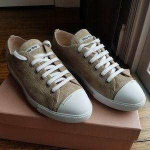 MIU MIU  Calzature Donna Suede Sneakers